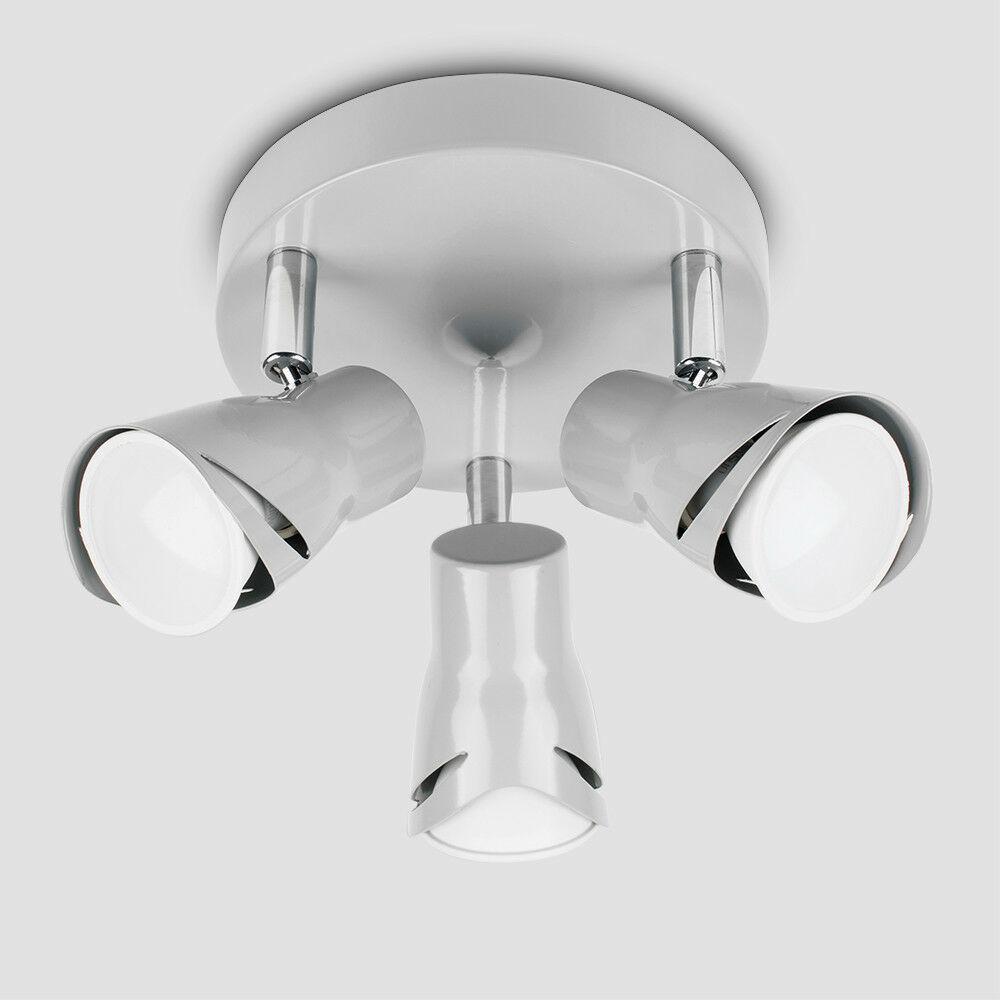 Modern-3-Way-LED-GU10-Ceiling-Spot-Lights-Spotlights-Black-Chrome-Copper-Grey thumbnail 31