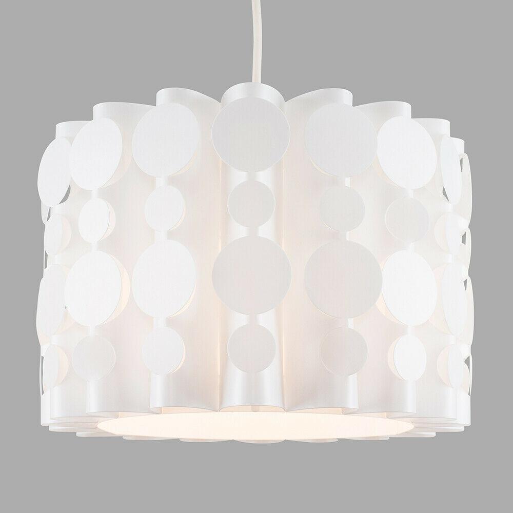 Tambor-Blanco-Moderno-Facil-Ajuste-Bombilla-LED-Pantalla-Luz-de-Techo-Colgante-Iluminacion miniatura 12