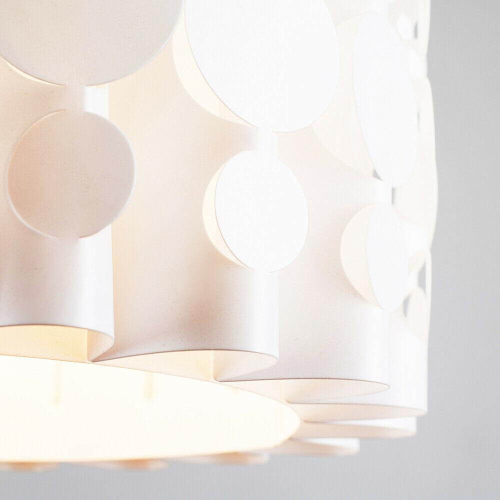 Tambor-Blanco-Moderno-Facil-Ajuste-Bombilla-LED-Pantalla-Luz-de-Techo-Colgante-Iluminacion miniatura 13