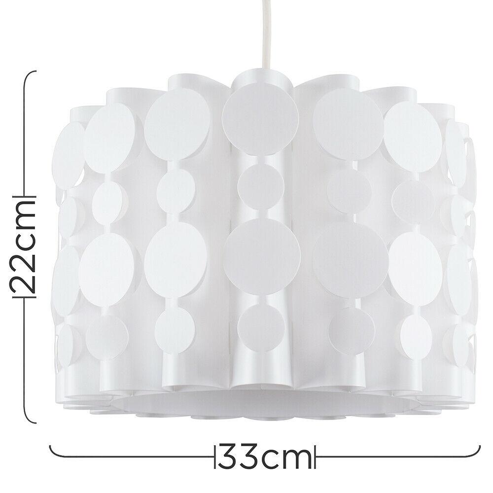 Tambor-Blanco-Moderno-Facil-Ajuste-Bombilla-LED-Pantalla-Luz-de-Techo-Colgante-Iluminacion miniatura 14