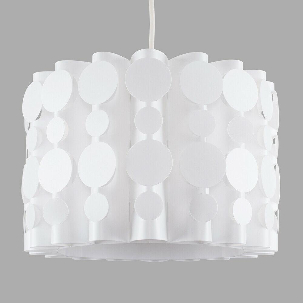 Tambor-Blanco-Moderno-Facil-Ajuste-Bombilla-LED-Pantalla-Luz-de-Techo-Colgante-Iluminacion miniatura 11