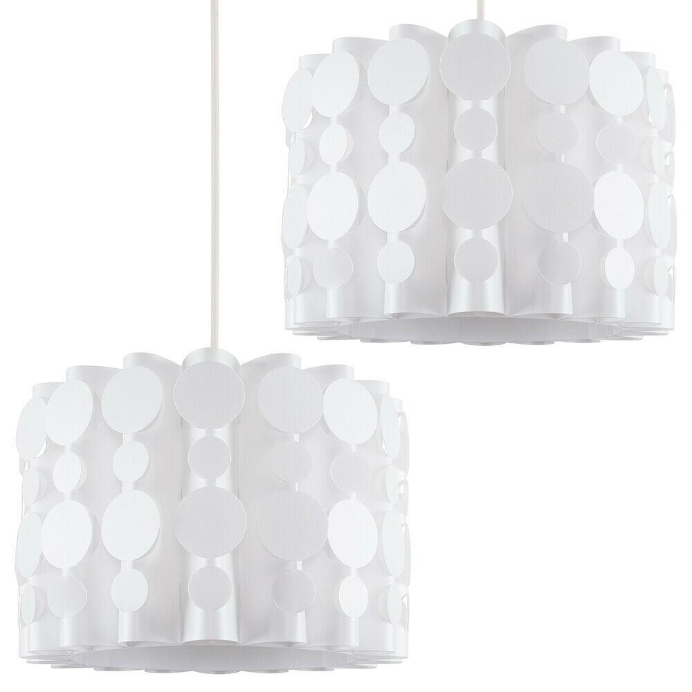 Tambor-Blanco-Moderno-Facil-Ajuste-Bombilla-LED-Pantalla-Luz-de-Techo-Colgante-Iluminacion miniatura 10
