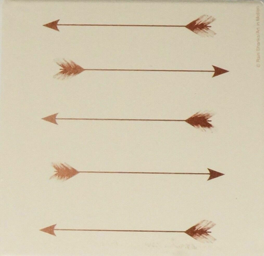 """New /""""Copper Arrows/"""" 6 Piece Absorbent Coaster Set by Thirstystone"""