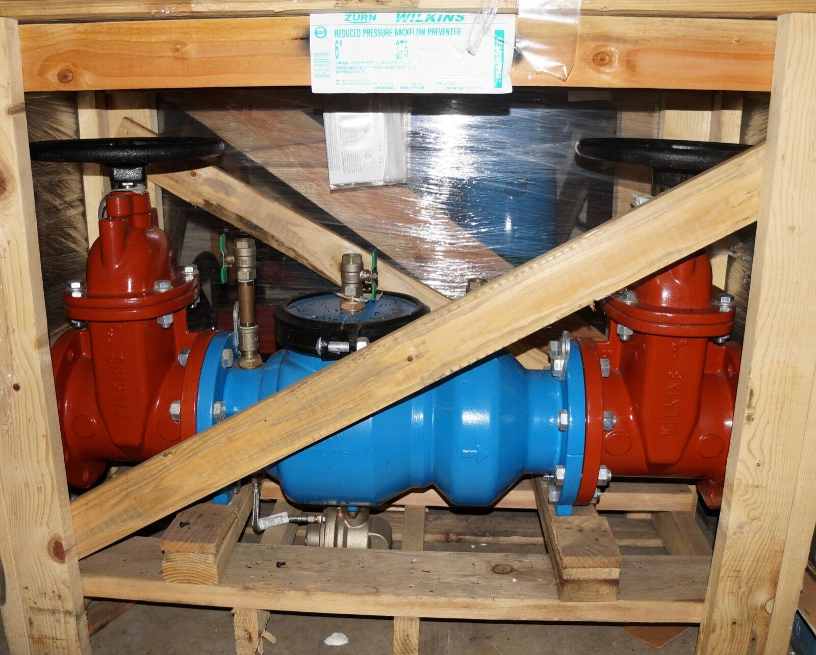 Details about New Zurn Wilkins 6 in  Reduced Pressure Principle Backflow  Preventer 6-375