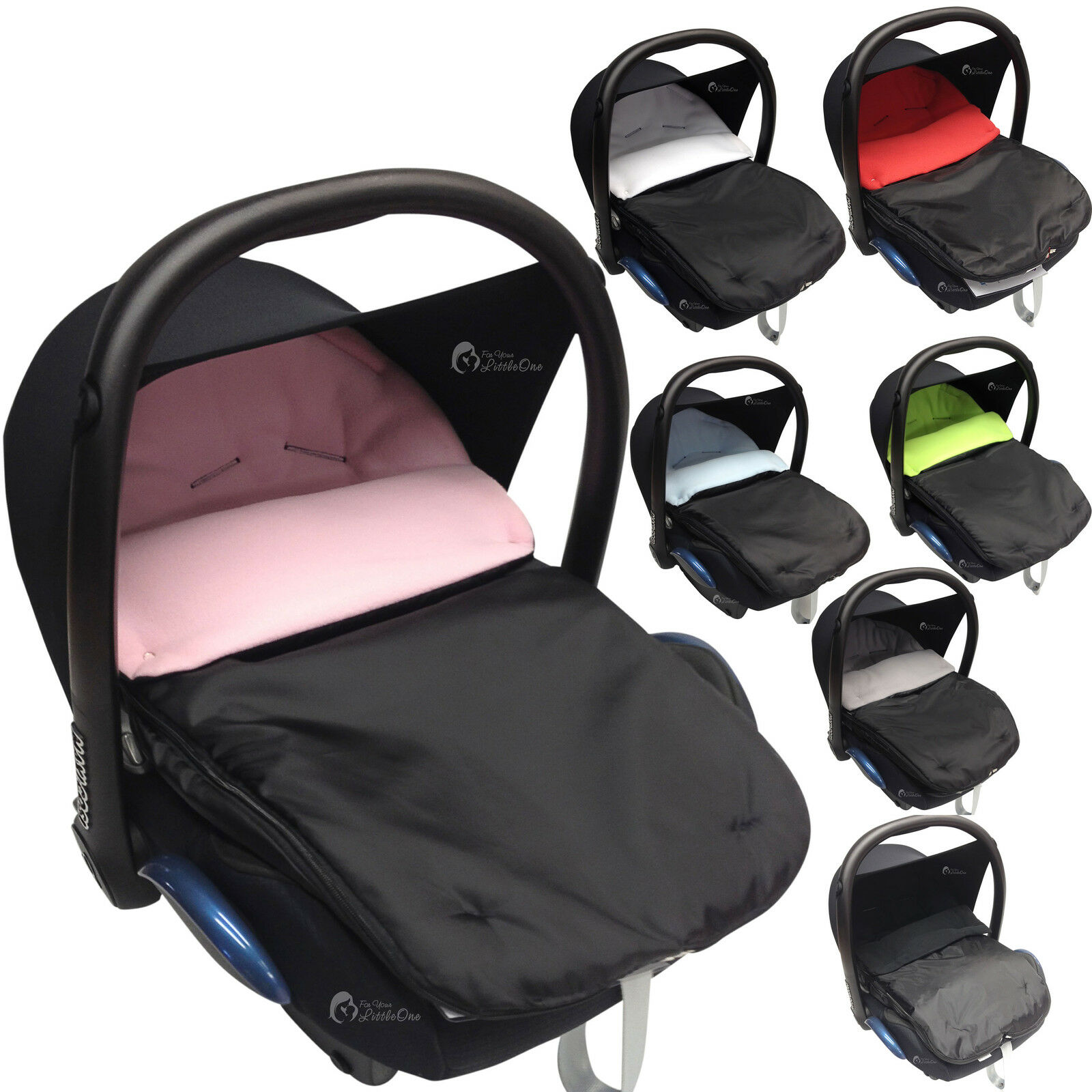 Car Seat Footmuff//Cosy Toes Compatible with Maxi COSI Pebble Cabrio Light Pink