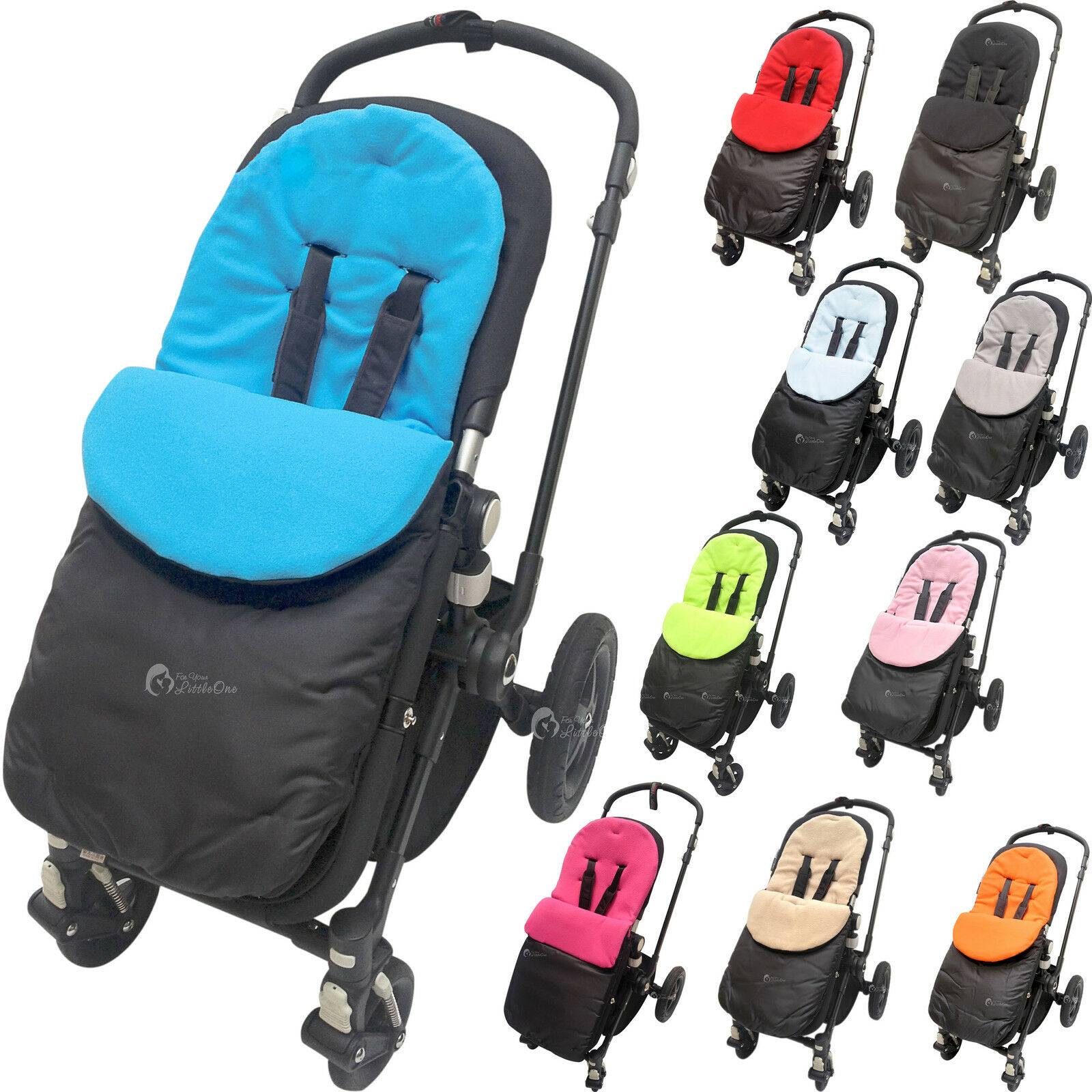 Deluxe Footmuff//Cosy Toes Compatible with Hauck Pushchair Black