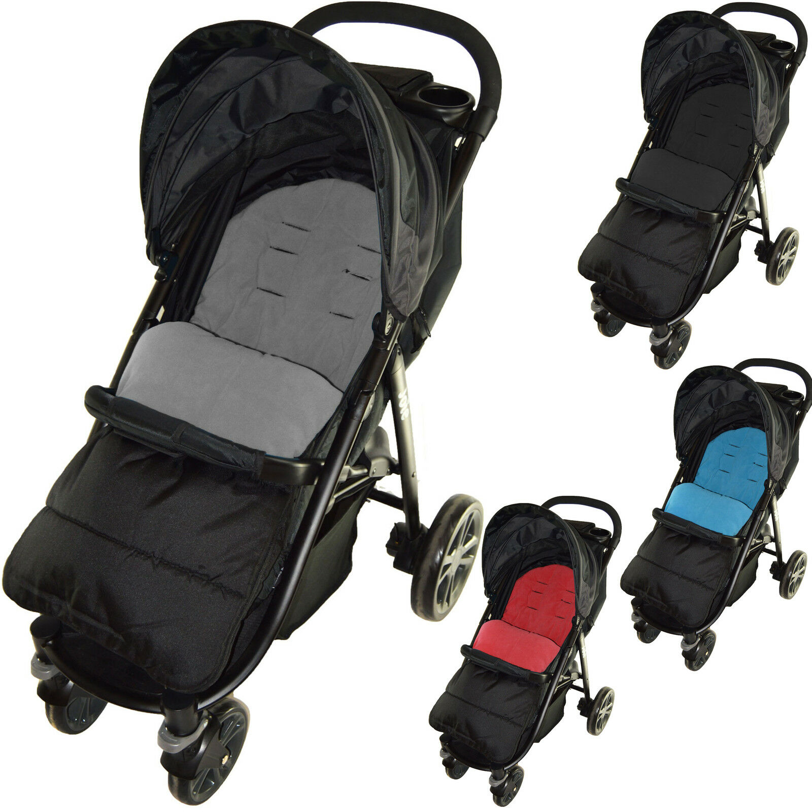 Cosy Toes Compatible with Joie Mirus Scenic Pushchair Fire Red Footmuff