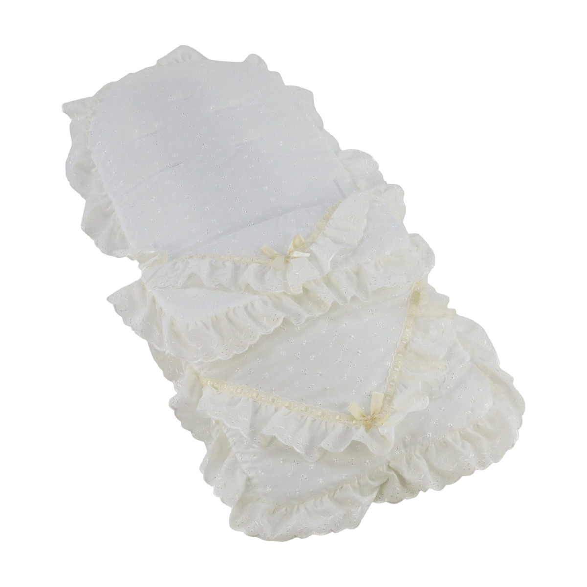Broderie Anglaise Footmuff Cosy Toes Compatible with Mamas /& Papas