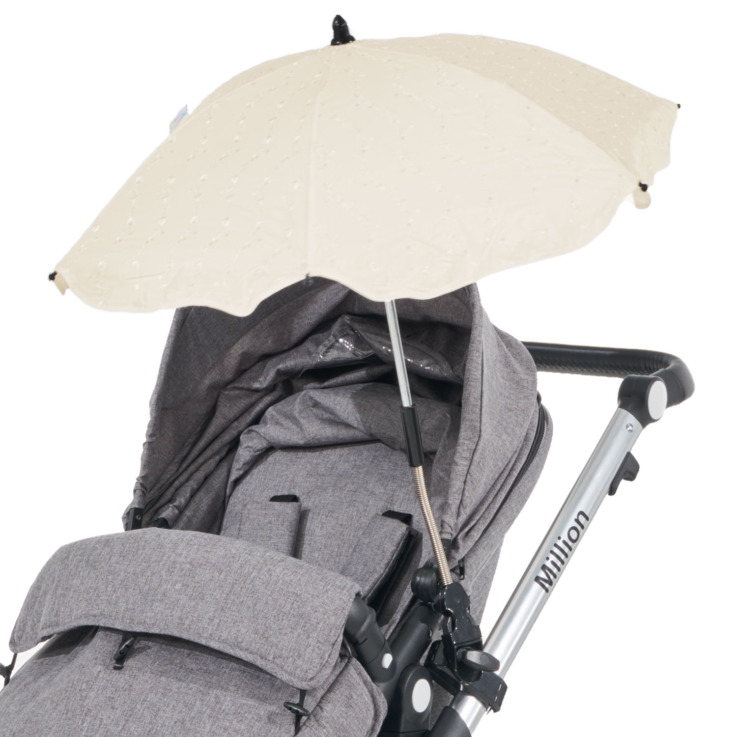 Broderie Anglaise Parasol Compatible with Silver Cross Pioneer Cream
