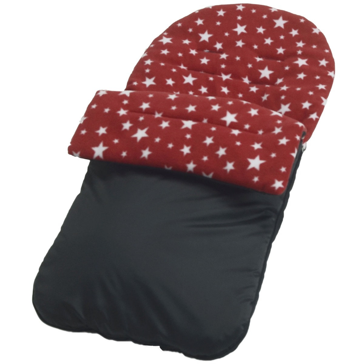 Cotton Footmuff//CosyToes Red and Black Polka Dots