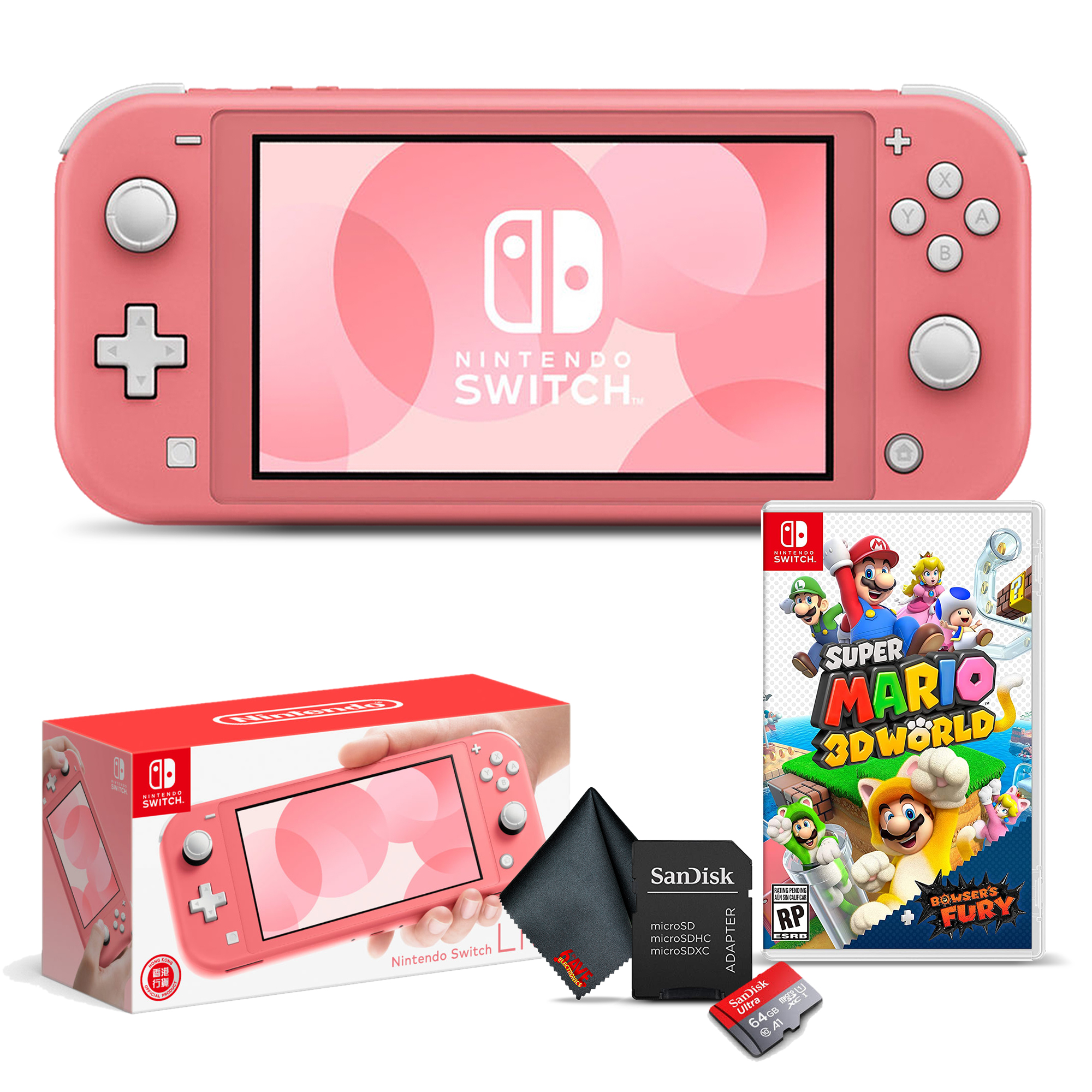miniature 3 - Nintendo Switch Lite Gaming Console Bundle with Super Mario 3D World + Bowser's