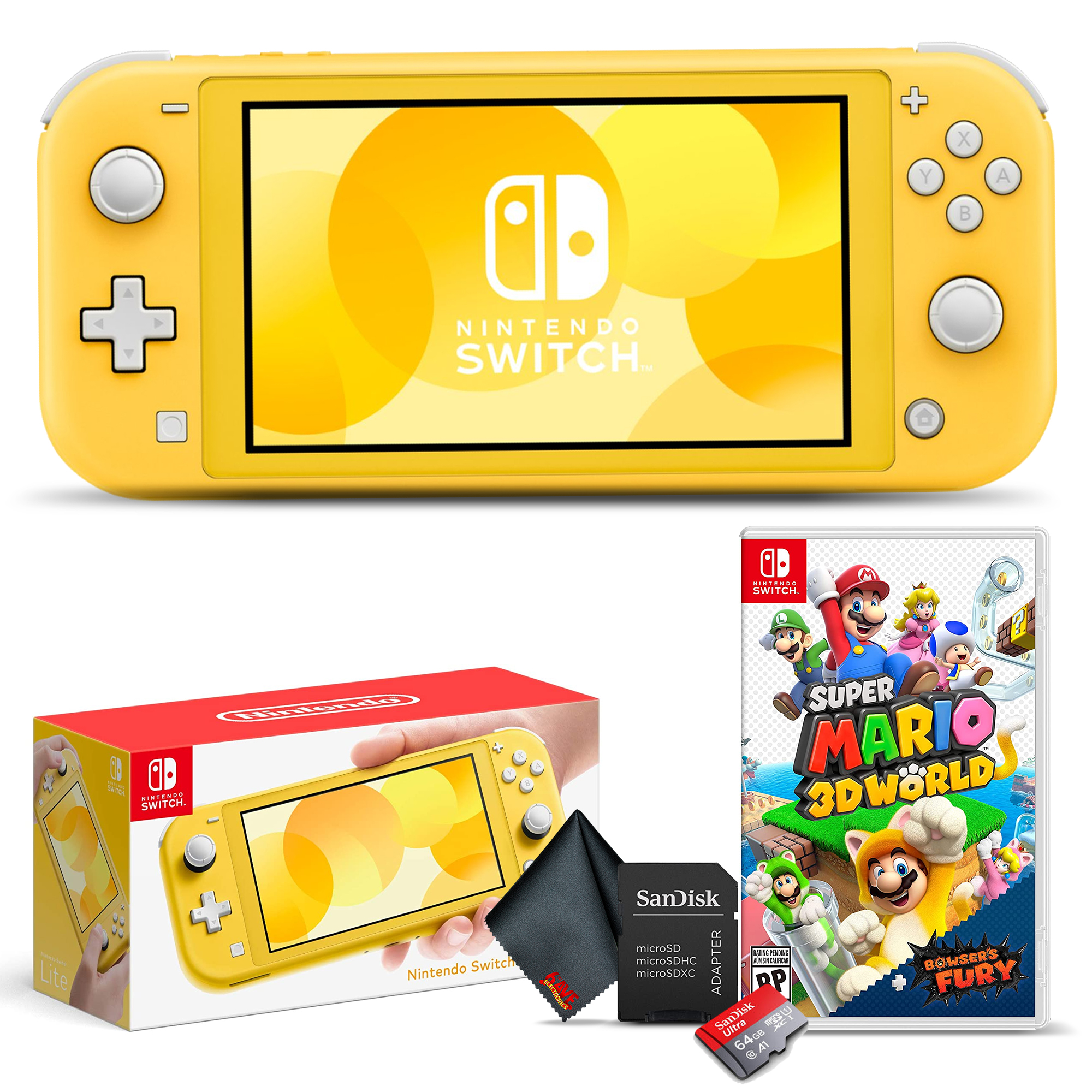 miniature 29 - Nintendo Switch Lite Gaming Console Bundle with Super Mario 3D World + Bowser's