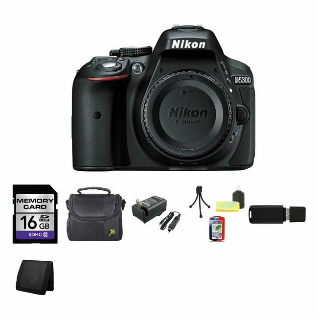 Nikon D5300 Digital SLR Camera  - Black 16GB Best Value Bund