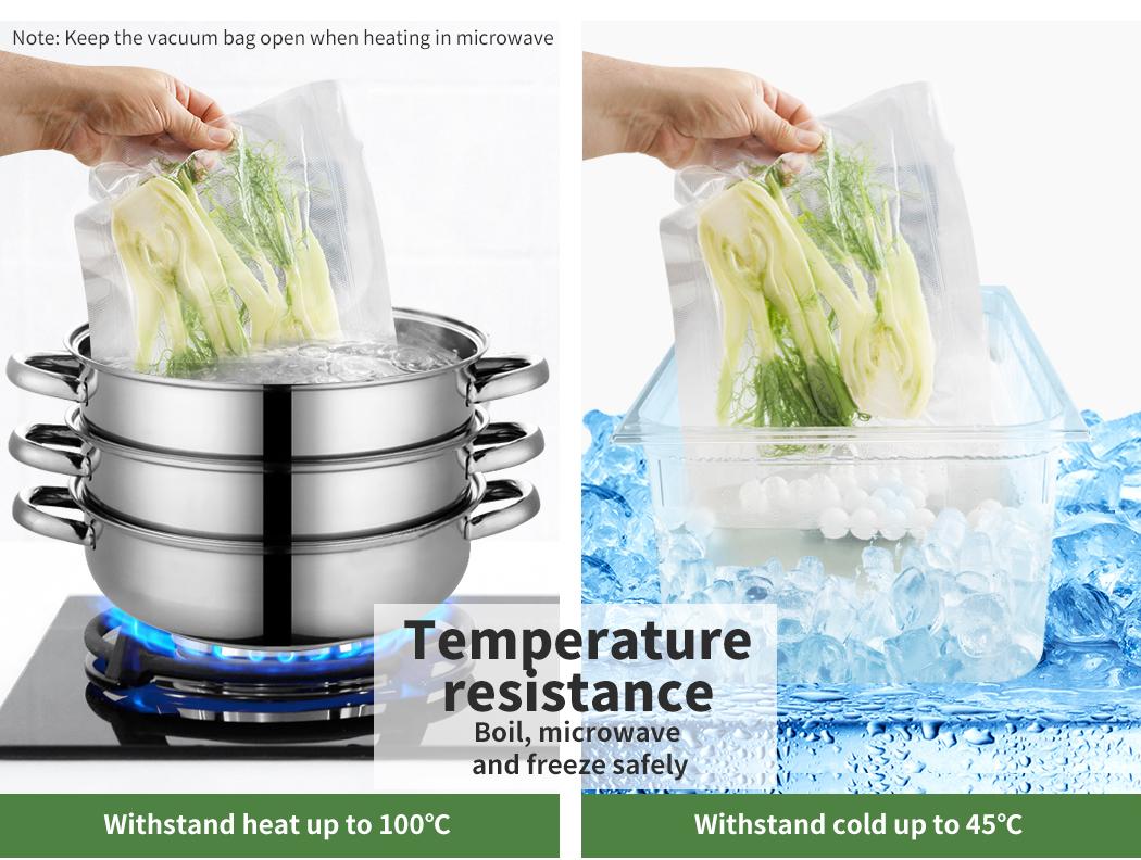 thumbnail 17 - Vacuum Food Sealer Storage Bags Saver Seal Bags Commercial Heat 100/200/500x