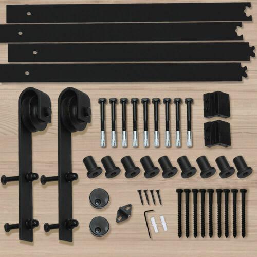 1-83-2-2-4-3-3-6-4M-Antique-Classic-Sliding-Barn-Door-Hardware-Track-Roller-Kit thumbnail 23