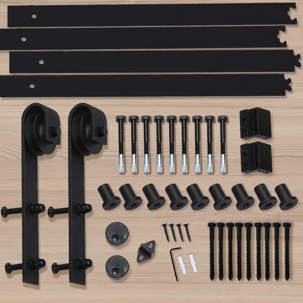 1-83-2-2-4-3-3-6-4M-Antique-Classic-Sliding-Barn-Door-Hardware-Track-Roller-Kit thumbnail 33