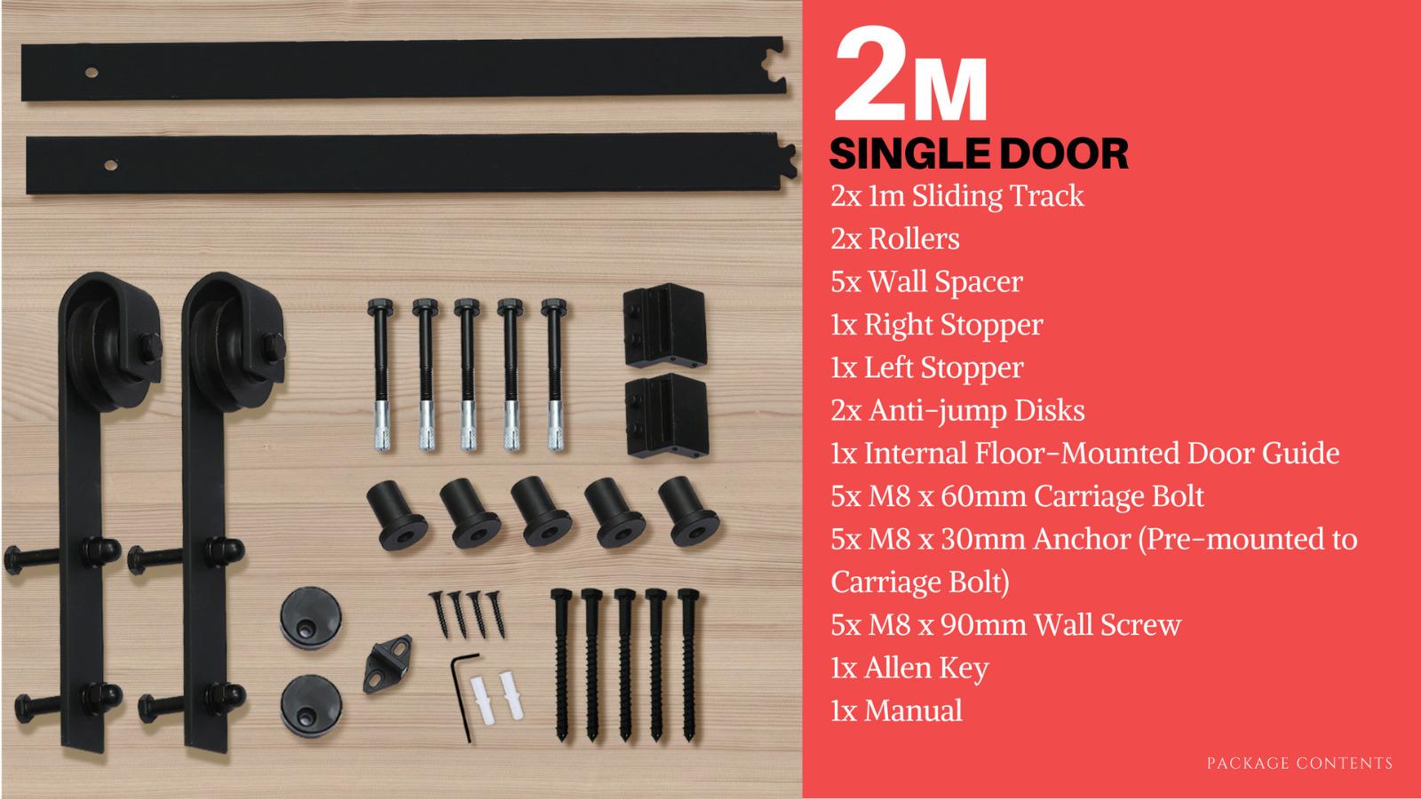 1-83-2-2-4-3-3-6-4M-Antique-Classic-Sliding-Barn-Door-Hardware-Track-Roller-Kit thumbnail 49