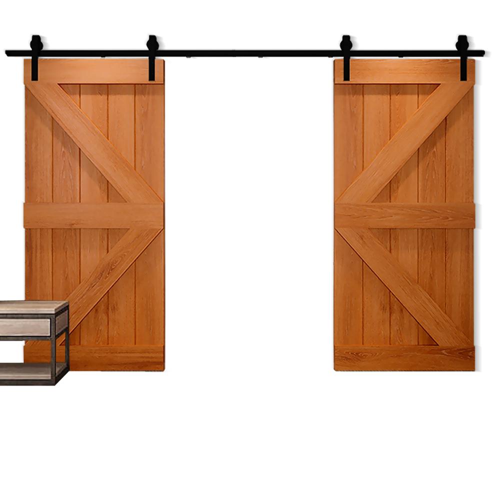 1-83-2-2-4-3-3-6-4M-Antique-Classic-Sliding-Barn-Door-Hardware-Track-Roller-Kit thumbnail 80
