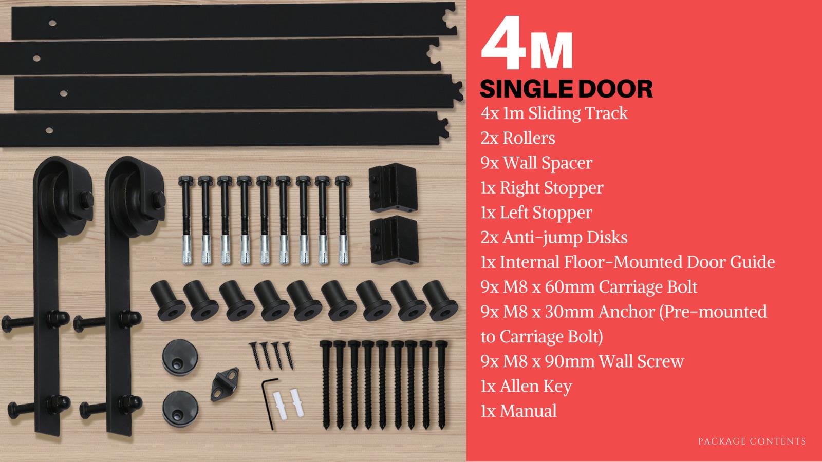 1-83-2-2-4-3-3-6-4M-Antique-Classic-Sliding-Barn-Door-Hardware-Track-Roller-Kit thumbnail 82