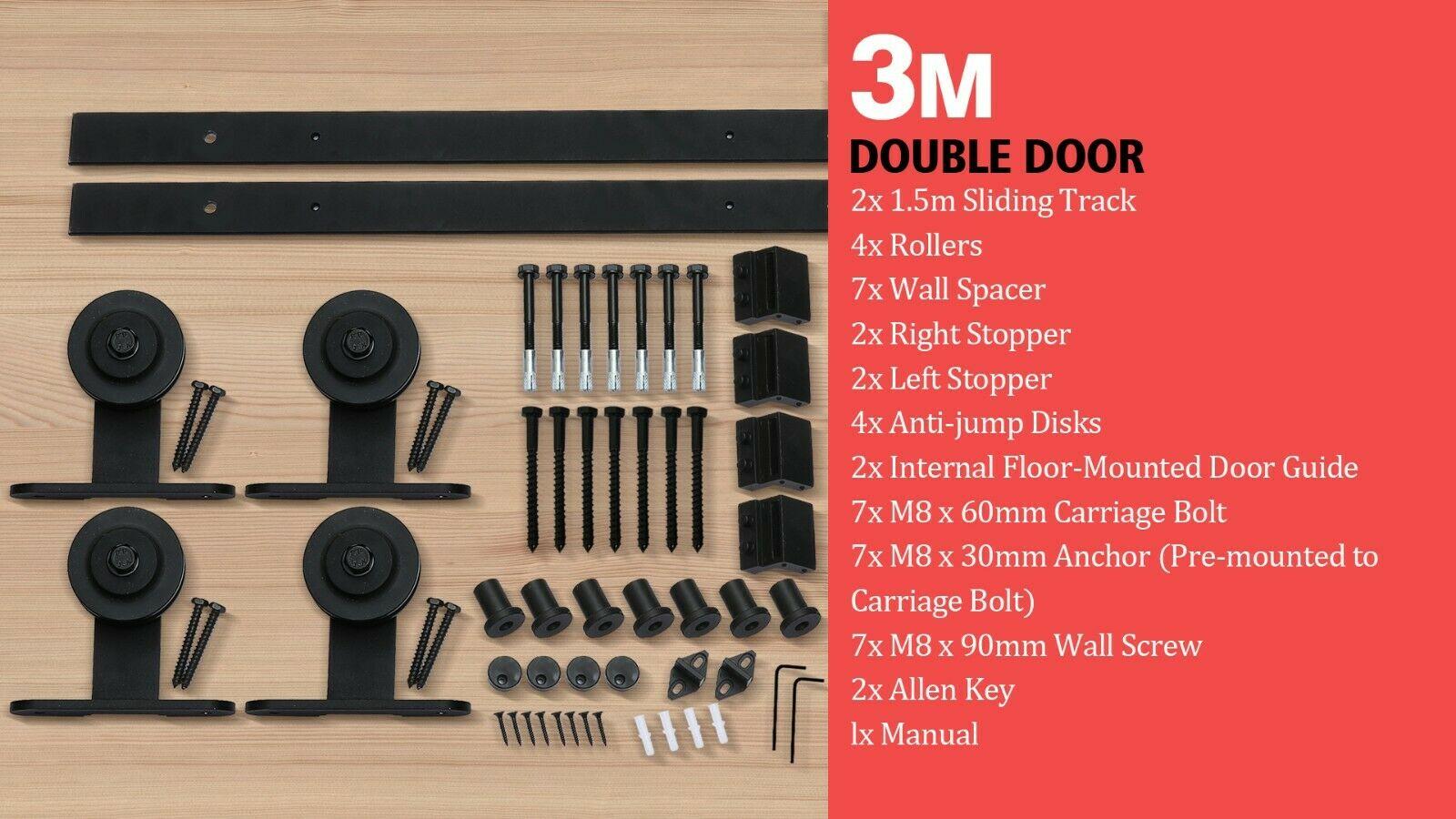 2 44 3 3 6 4m Antique Classic Sliding Barn Double Door