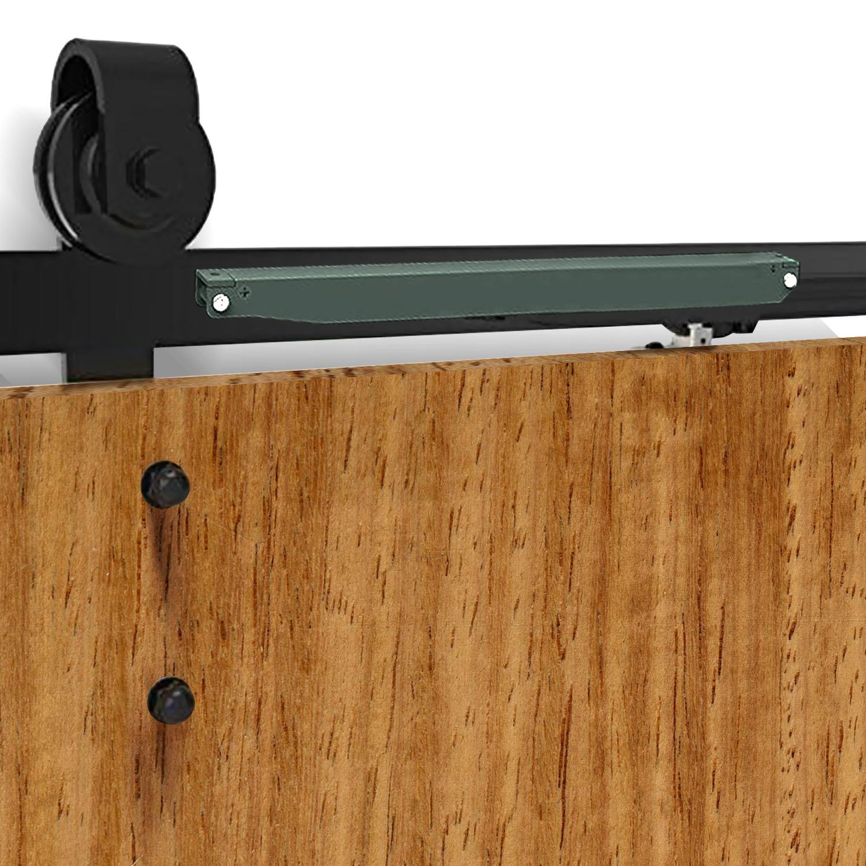 1-83-2-2-4-3-3-6-4M-Antique-Classic-Sliding-Barn-Door-Hardware-Track-Roller-Kit thumbnail 102