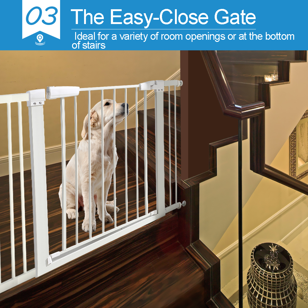 76cm-Tall-Baby-Kids-Pet-Safety-Security-Gate-Wide-Adjustable-Stair-Barrier-Door thumbnail 17