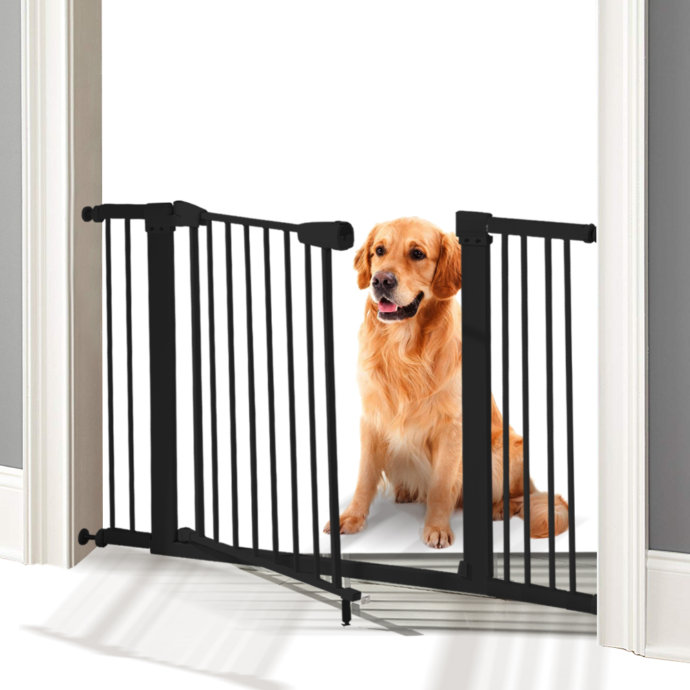 76cm-Tall-Baby-Kids-Pet-Safety-Security-Gate-Wide-Adjustable-Stair-Barrier-Door thumbnail 13