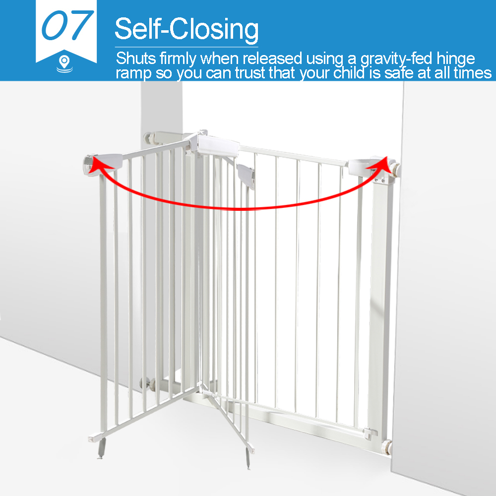 76cm-Tall-Baby-Kids-Pet-Safety-Security-Gate-Wide-Adjustable-Stair-Barrier-Door thumbnail 21