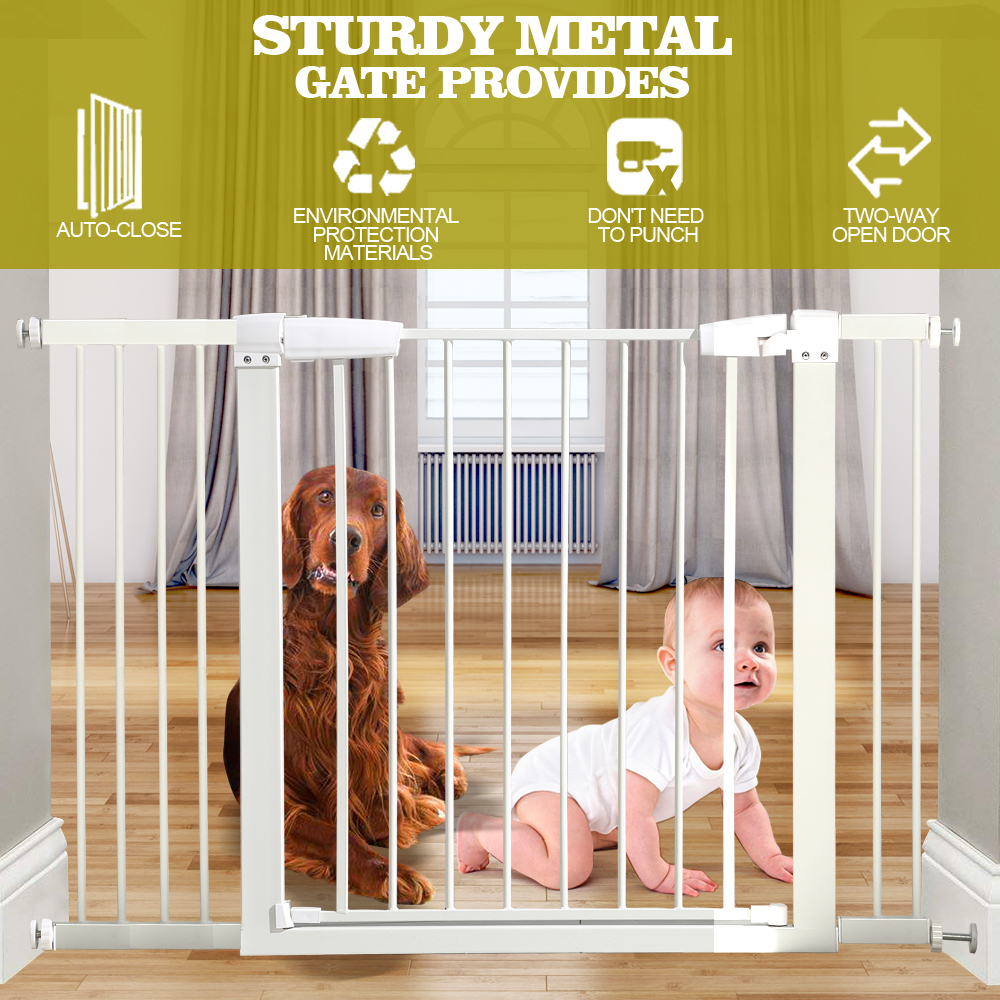 76cm-Tall-Baby-Kids-Pet-Safety-Security-Gate-Wide-Adjustable-Stair-Barrier-Door thumbnail 25