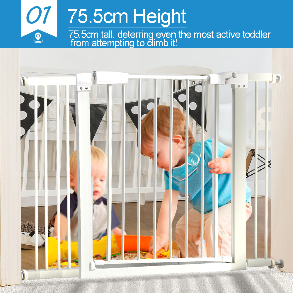 76cm-Tall-Baby-Kids-Pet-Safety-Security-Gate-Wide-Adjustable-Stair-Barrier-Door thumbnail 26