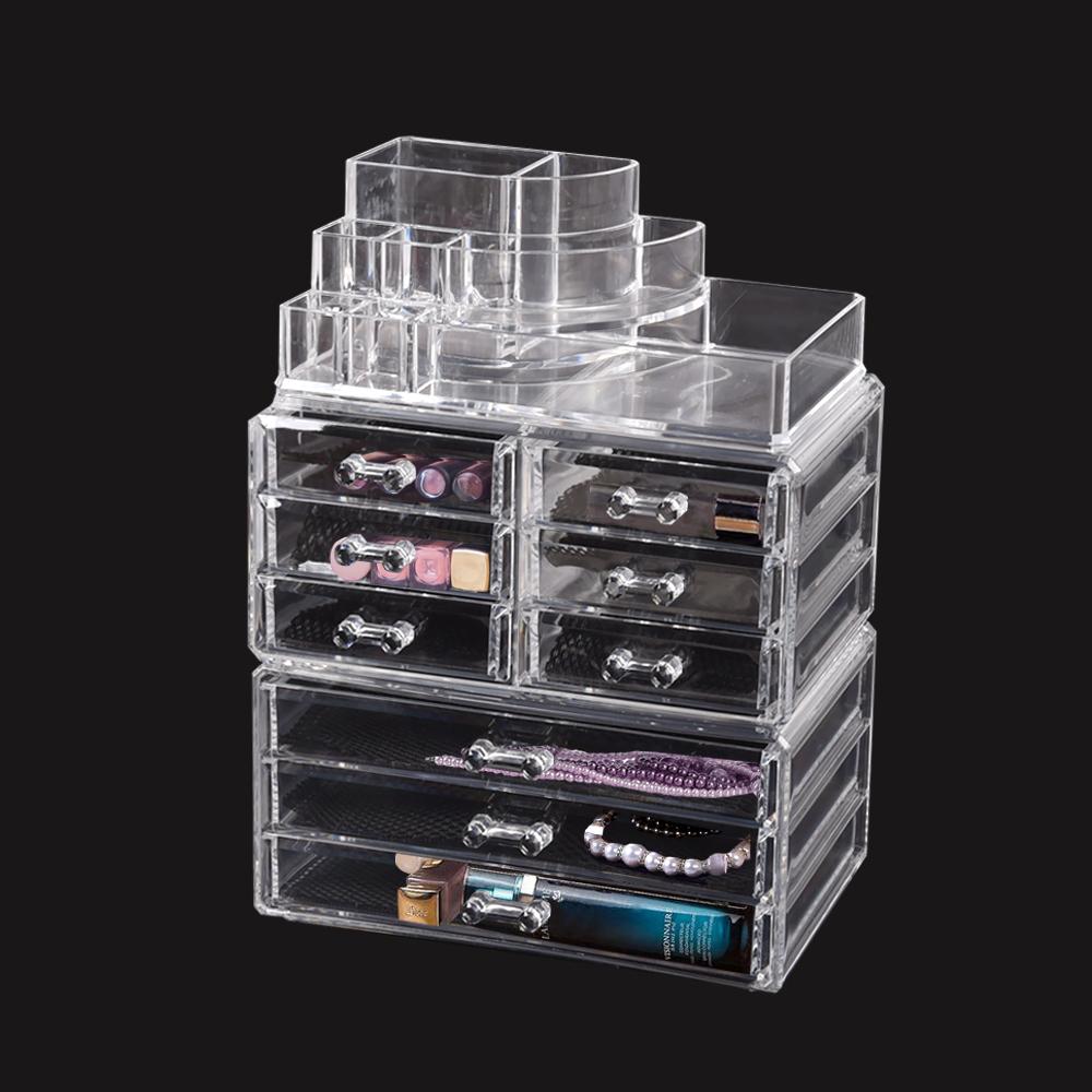 Cosmetic-7-8-9-10-11-Drawer-Makeup-Organizer-Storage-Jewellery-Box-Acrylic thumbnail 85
