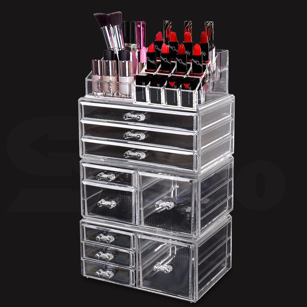 Cosmetic-7-8-9-10-11-Drawer-Makeup-Organizer-Storage-Jewellery-Box-Acrylic thumbnail 15