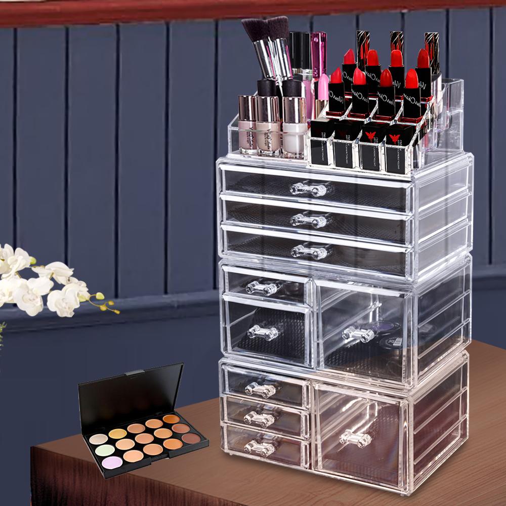 Cosmetic-7-8-9-10-11-Drawer-Makeup-Organizer-Storage-Jewellery-Box-Acrylic thumbnail 13