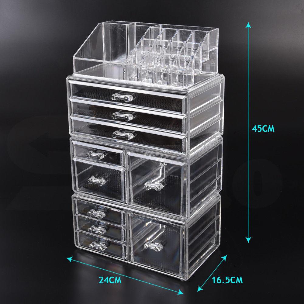 Cosmetic-7-8-9-10-11-Drawer-Makeup-Organizer-Storage-Jewellery-Box-Acrylic thumbnail 14