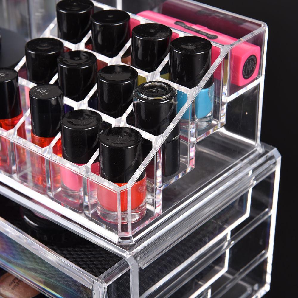Cosmetic-7-8-9-10-11-Drawer-Makeup-Organizer-Storage-Jewellery-Box-Acrylic thumbnail 16
