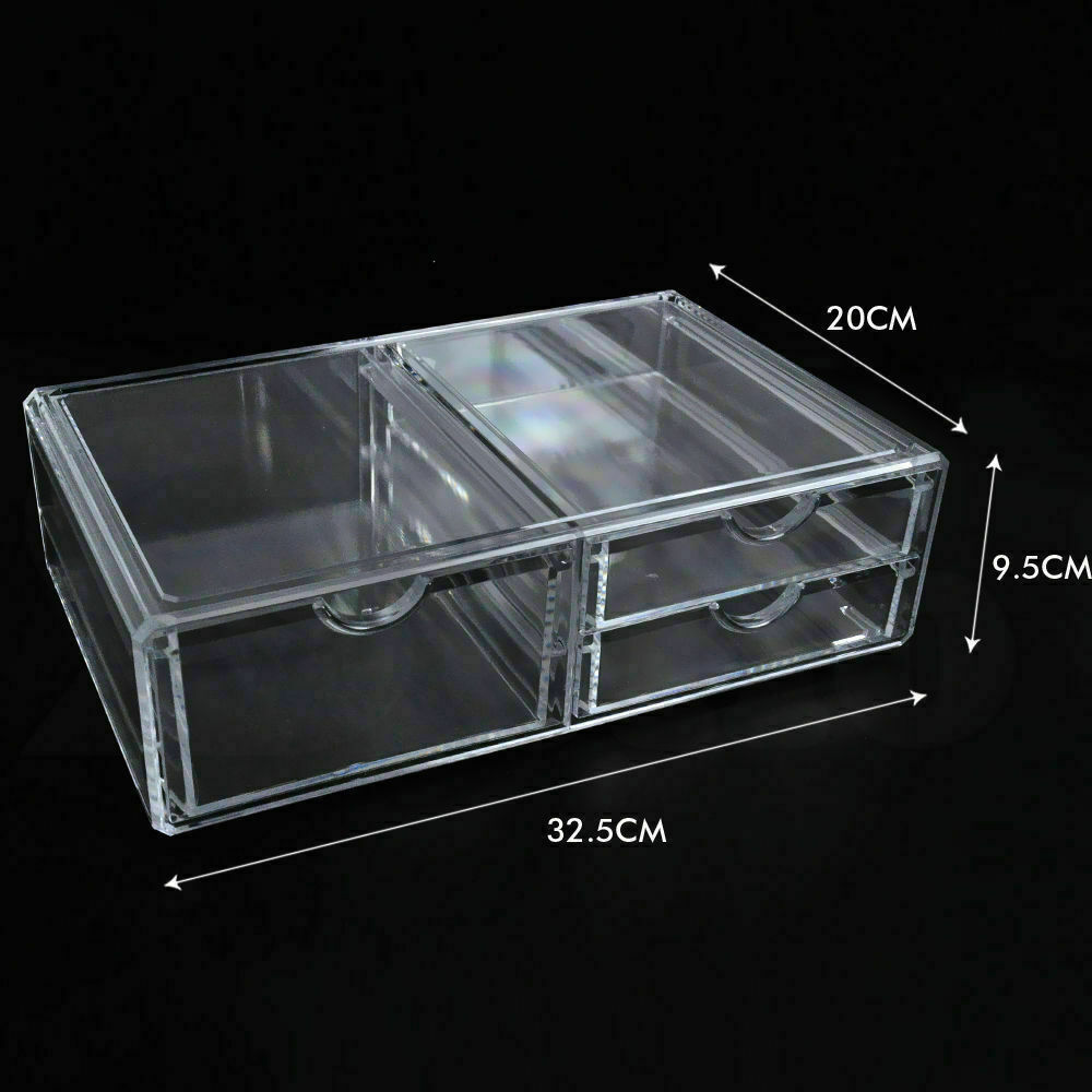 Cosmetic-Organizer-Clear-Acrylic-Jewellery-Box-Makeup-Storage-Case-Drawers thumbnail 17