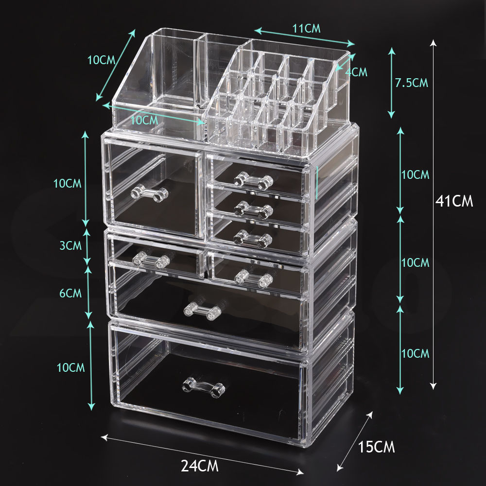 Cosmetic-7-8-9-10-11-Drawer-Makeup-Organizer-Storage-Jewellery-Box-Acrylic thumbnail 30
