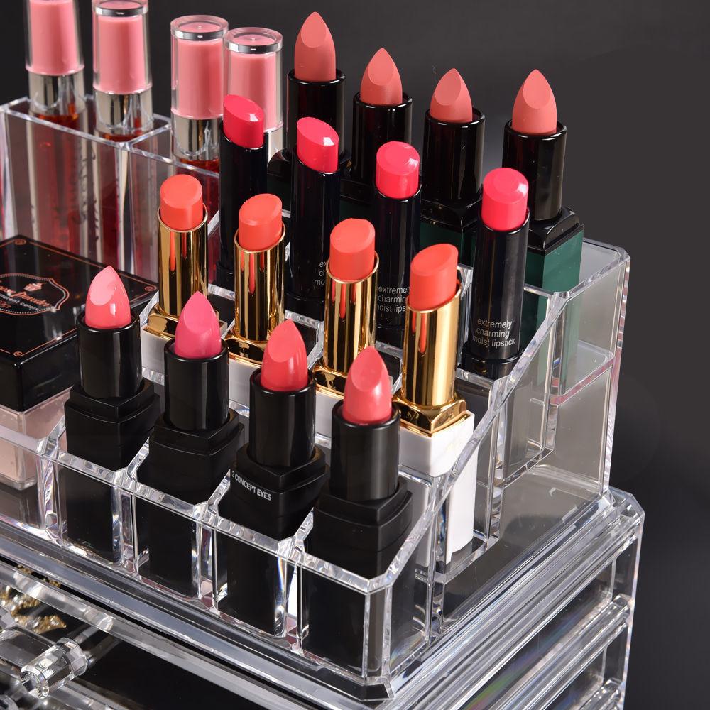 Cosmetic-7-8-9-10-11-Drawer-Makeup-Organizer-Storage-Jewellery-Box-Acrylic thumbnail 26