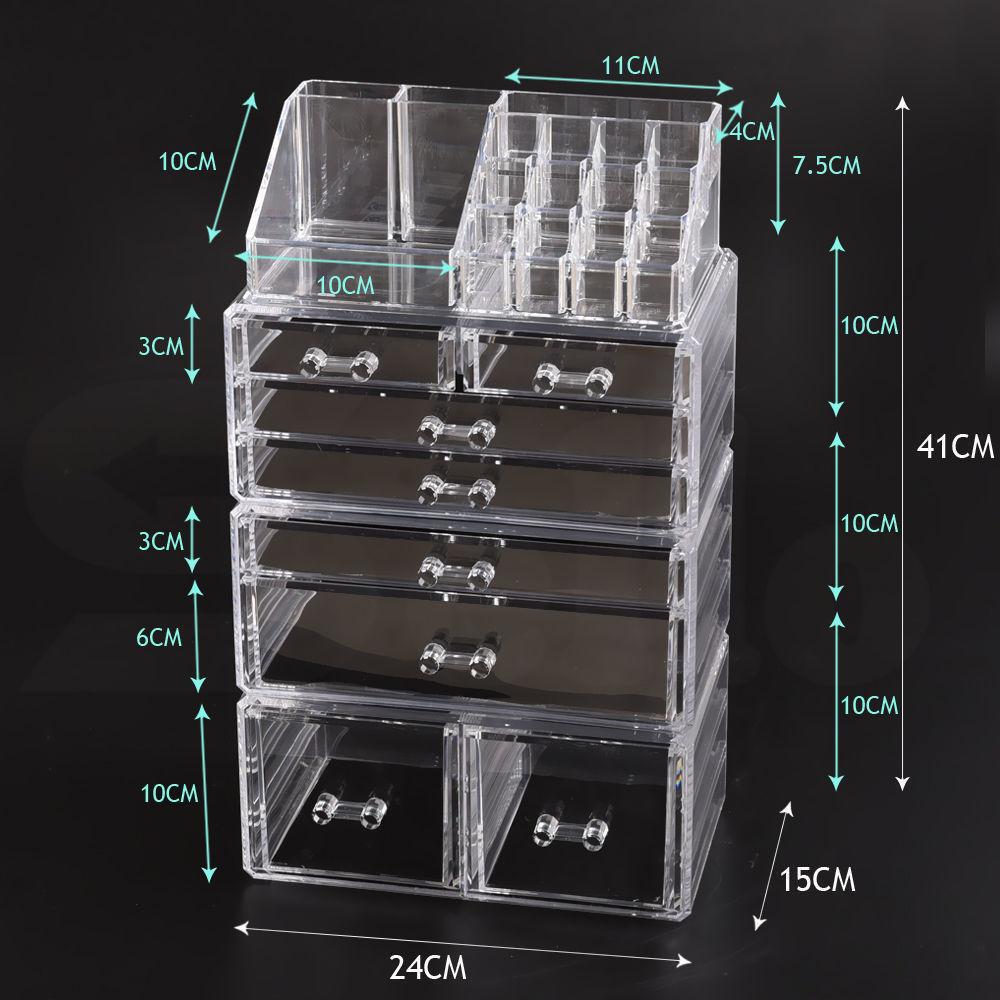 Cosmetic-7-8-9-10-11-Drawer-Makeup-Organizer-Storage-Jewellery-Box-Acrylic thumbnail 60
