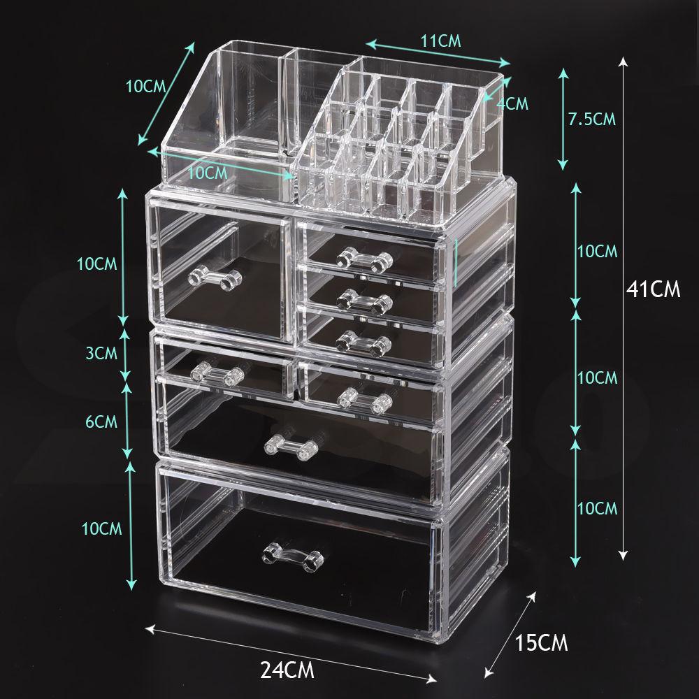 Cosmetic-7-8-9-10-11-Drawer-Makeup-Organizer-Storage-Jewellery-Box-Acrylic thumbnail 41