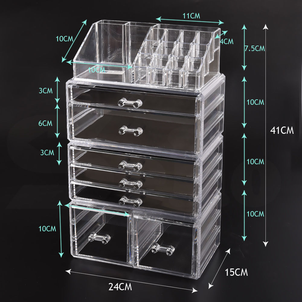 Cosmetic-7-8-9-10-11-Drawer-Makeup-Organizer-Storage-Jewellery-Box-Acrylic thumbnail 50
