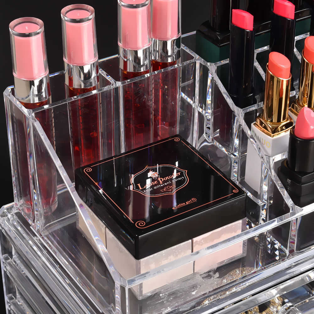 Cosmetic-7-8-9-10-11-Drawer-Makeup-Organizer-Storage-Jewellery-Box-Acrylic thumbnail 45