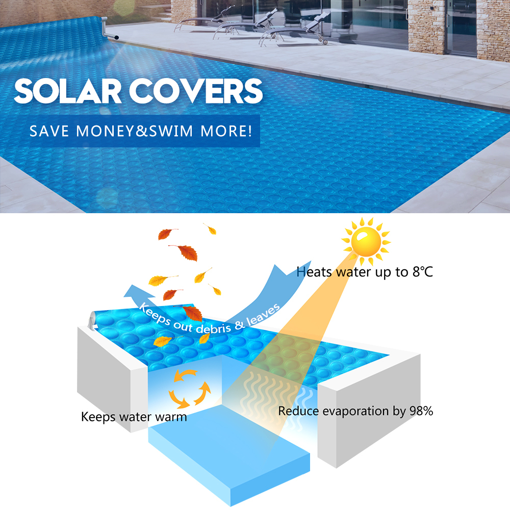 Solar-Swimming-Pool-Cover-500-Micron-Outdoor-Blanket-Isothermal-7-Sizes thumbnail 13