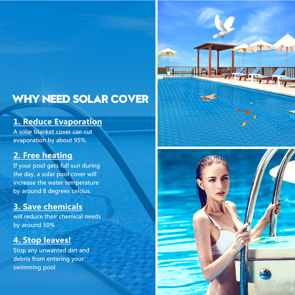 Solar-Swimming-Pool-Cover-500-Micron-Outdoor-Blanket-Isothermal-7-Sizes thumbnail 14