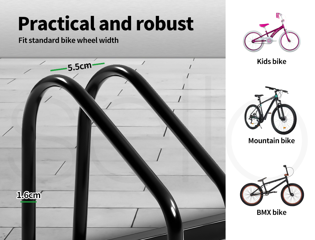 thumbnail 17 - Monvelo 1-6 Bike Stand Bicycle Rack Storage Floor Parking Holder Cycling Stands