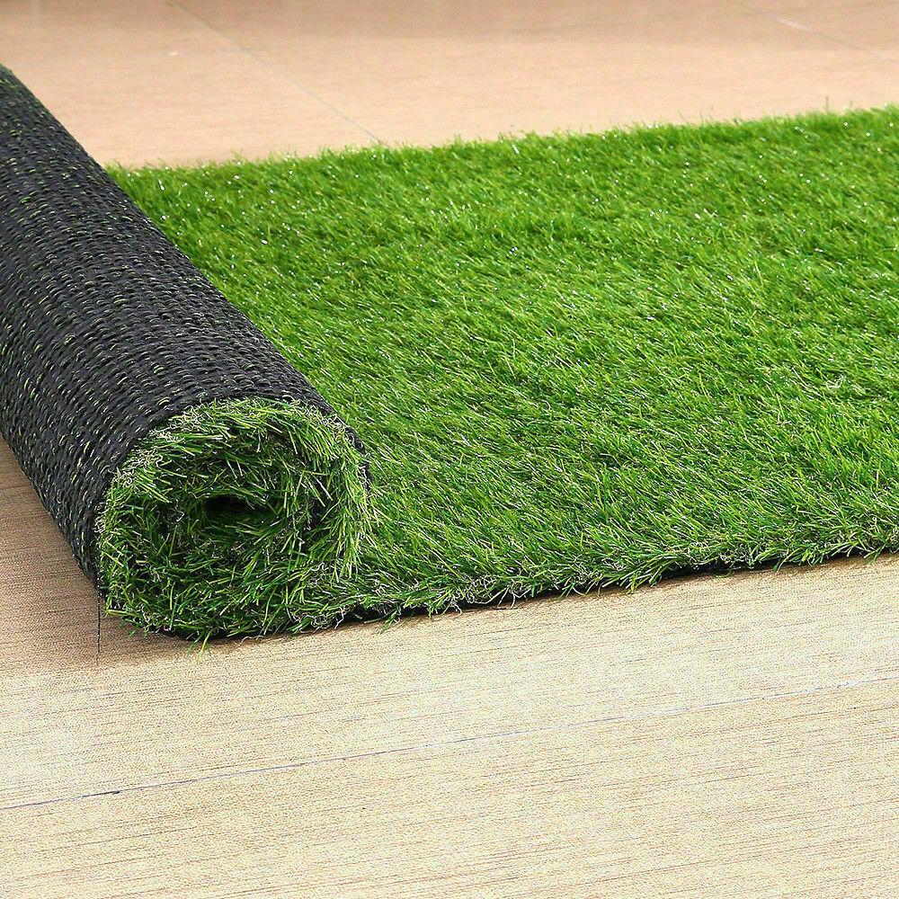 Synthetic-Grass-Turf-Decor-Artificial-Lawn-Fake-Plant-Plastic-Green-Flooring-Mat thumbnail 4