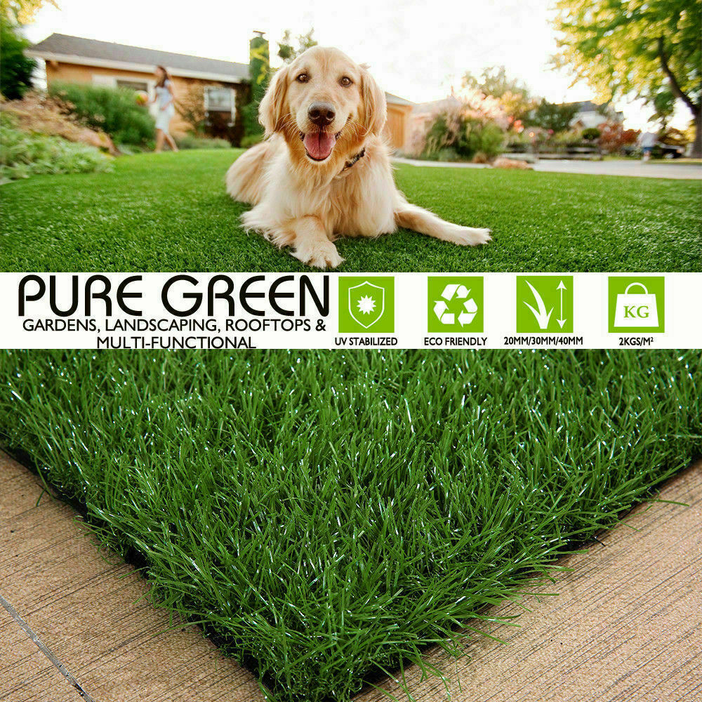 Synthetic-Grass-Turf-Decor-Artificial-Lawn-Fake-Plant-Plastic-Green-Flooring-Mat thumbnail 10