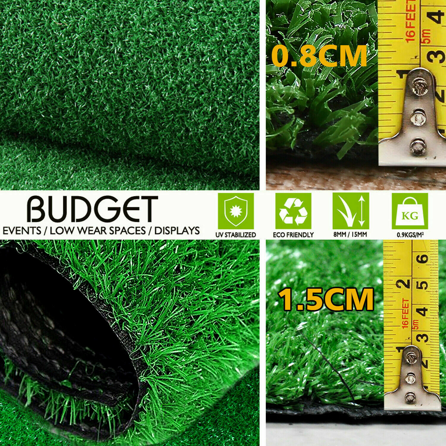 Synthetic-Grass-Turf-Decor-Artificial-Lawn-Fake-Plant-Plastic-Green-Flooring-Mat thumbnail 11