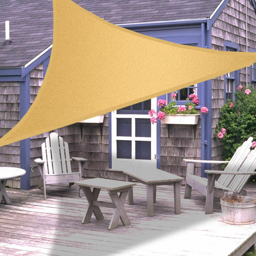 Extra Heavy Duty Shade Sail Sand Sun Canopy Outdoor ...