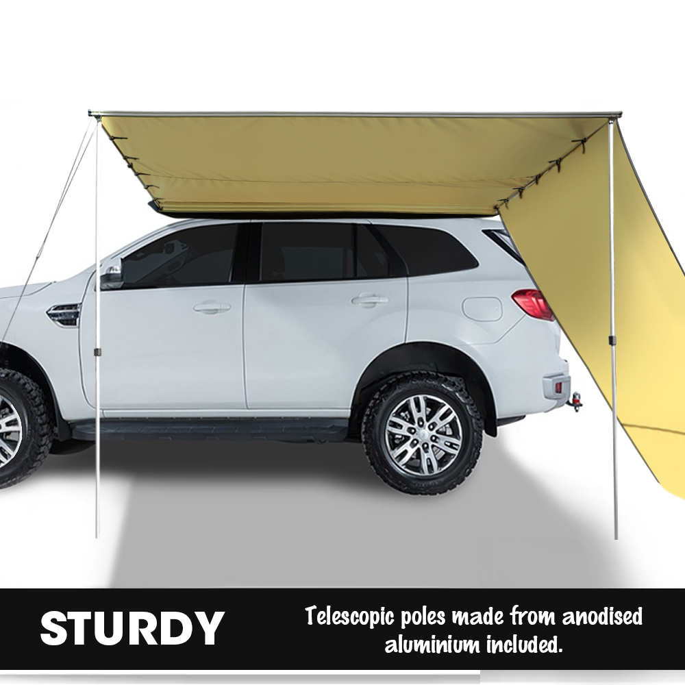2.5M 3M Car Side Awning Extension Roof Rack Covers Tents ...